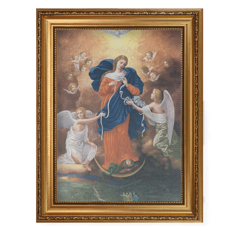 "Our Lady Untier Of Knots Framed Fine Art Canvas Print - 12"" x 16"" (2 Frame Options)"