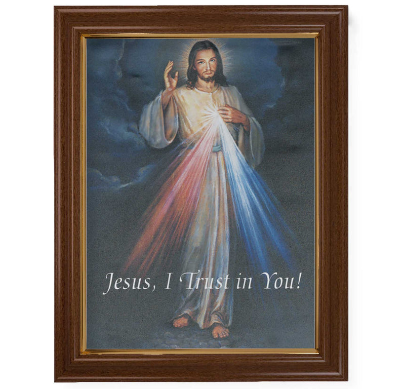 "Divine Mercy Framed Fine Art Canvas Print - 12"" x 16"" (2 Frame Options)"
