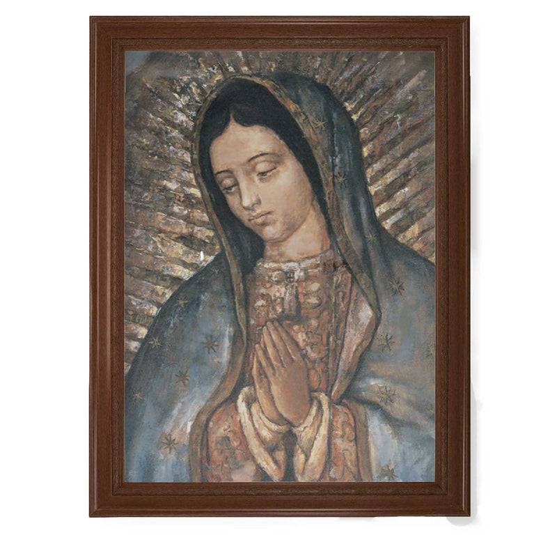 "Our Lady of Guadalupe Framed Fine Art Canvas Print - 19"" x 27"" (2 Frame Options)"