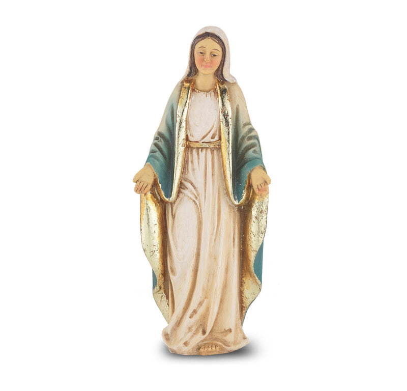 "4"" Our Lady of Grace Statue with Gold Accents"