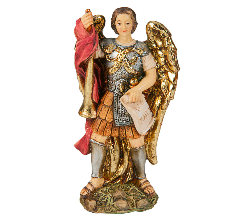 "4"" St. Gabriel Statue with Gold Accents"
