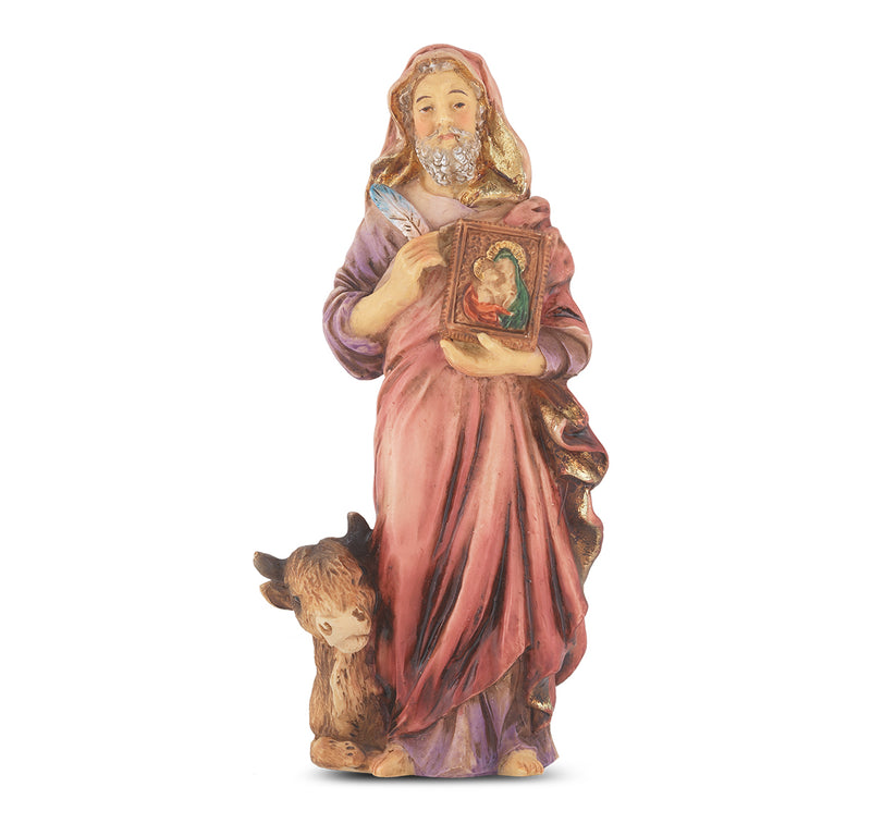 "4"" St. Luke Statue with Gold Accents"