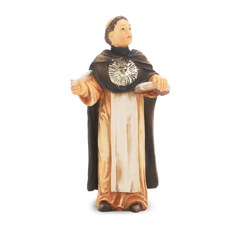 "4"" St. Thomas Aquinas Statue with Gold Accents"