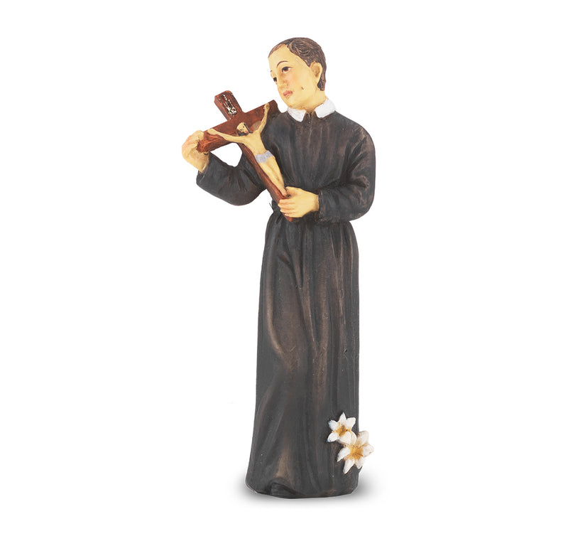 "4"" St. Gerard Statue with Gold Accents"