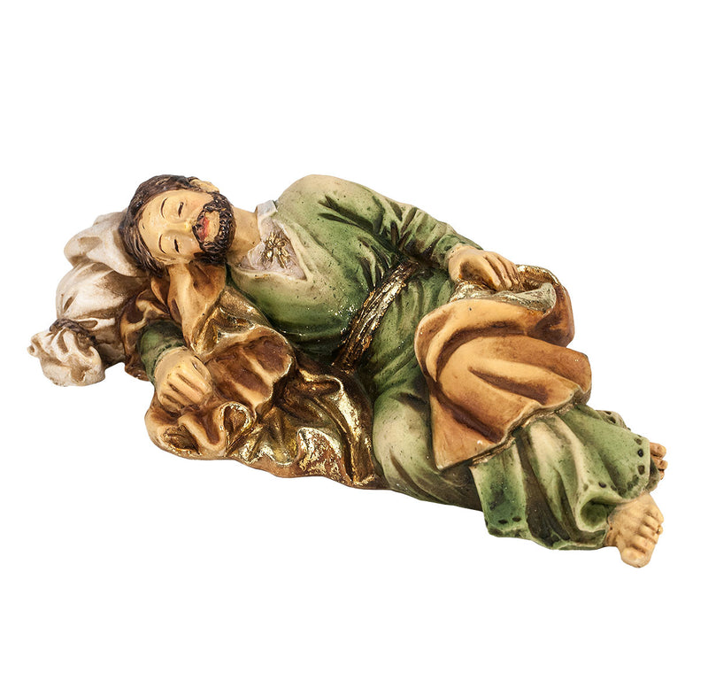 "4"" Sleeping St. Joseph Statue with Gold Accents"