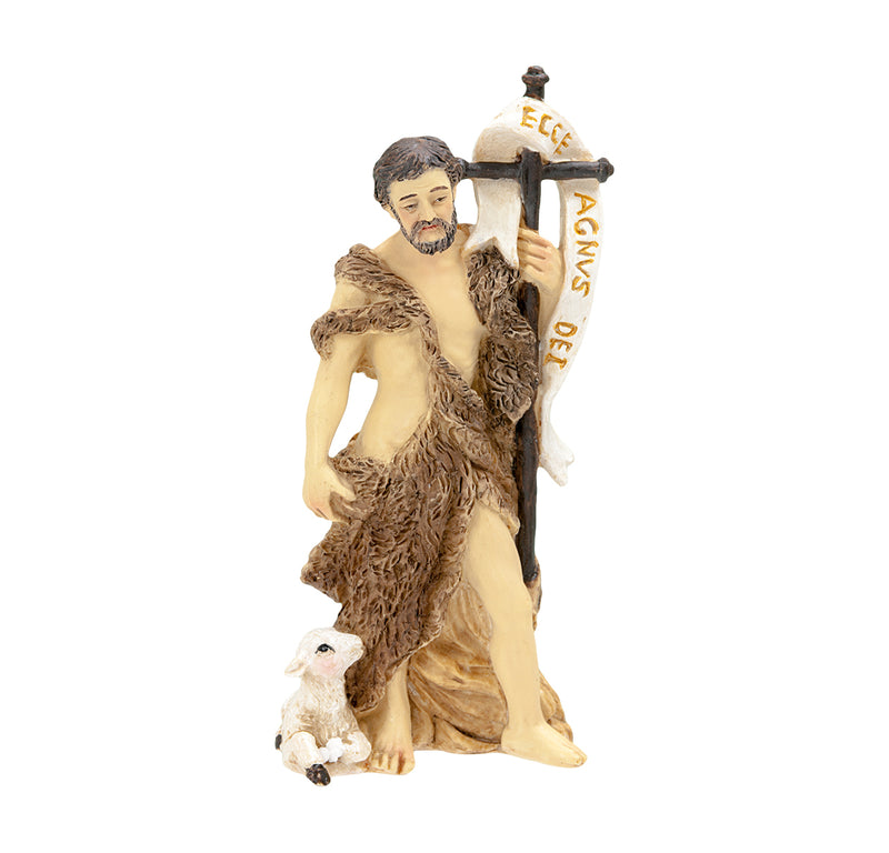 "4"" St. John the Baptist Statue with Gold Accents"