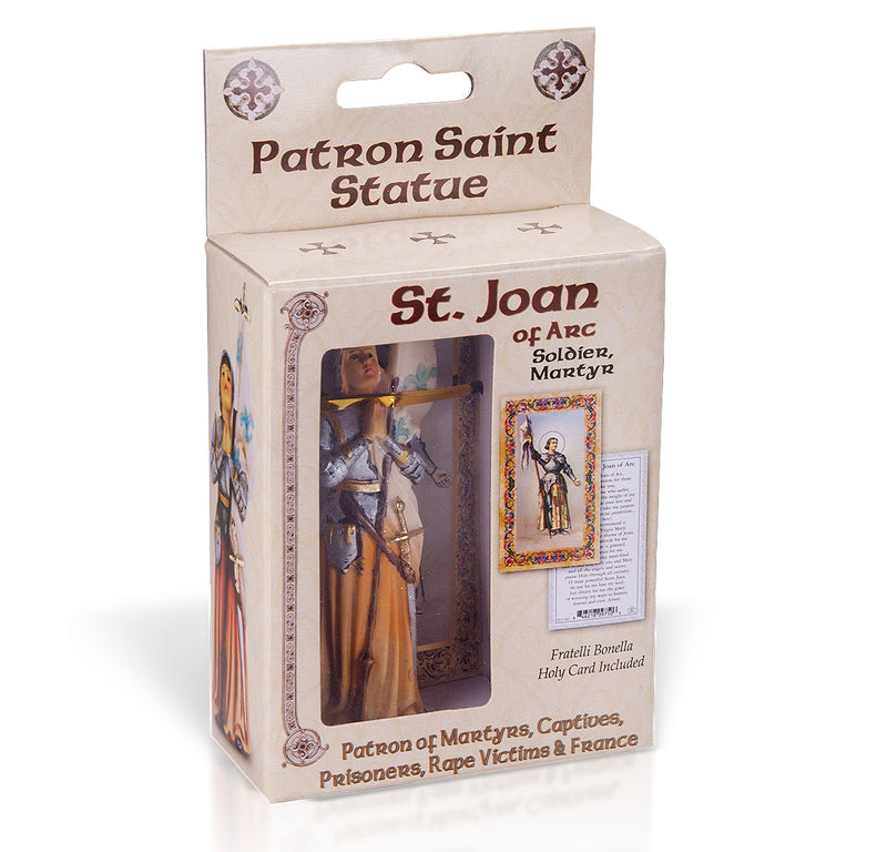 "4"" St. Barbara Statue with Gold Accents"