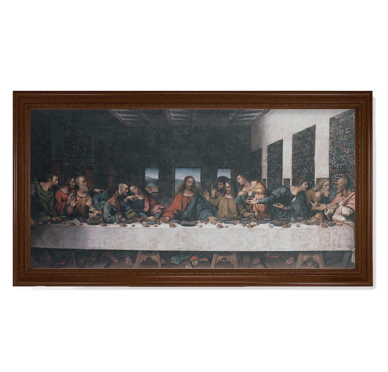 "The Last Supper Framed Fine Art Canvas Print - 19"" x 39"" (2 Frame Options)"