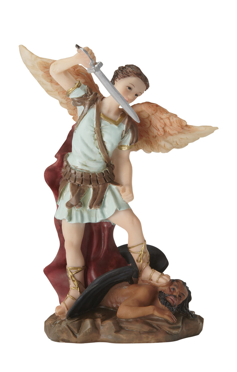 St. Michael Statue - Color - 5.5""