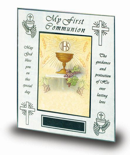 "7"" x 9"" Polished Brass Communion Photo Frame (Holds 4"" x 6"" Photo)"