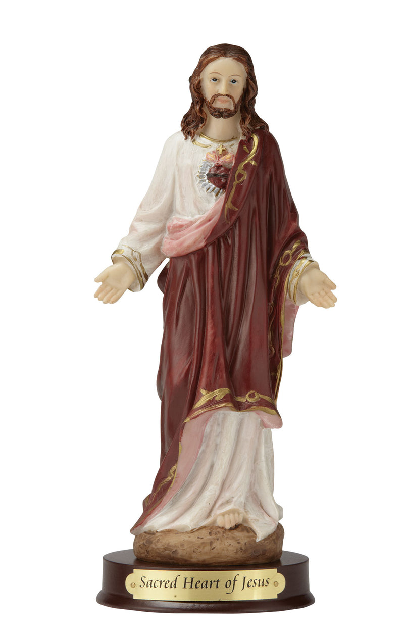 "Sacred Heart of Jesus Statue - Color - 8"" or 12"""