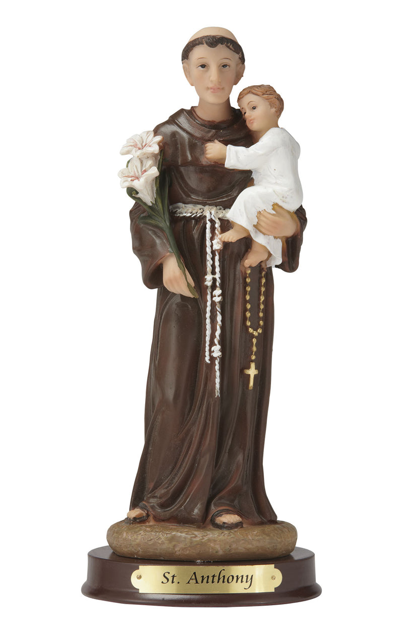 "St. Anthony Statue - Color - 8"" or 12"""