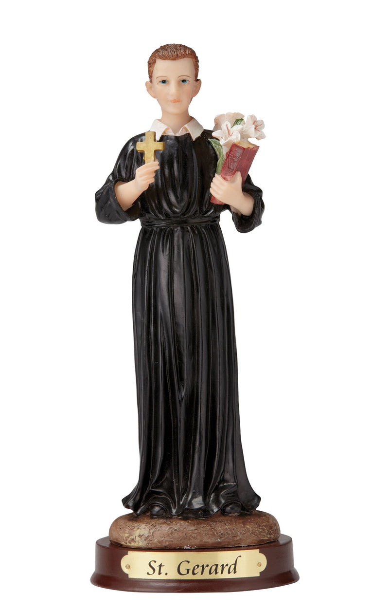 St. Gerard Statue - Color - 8""