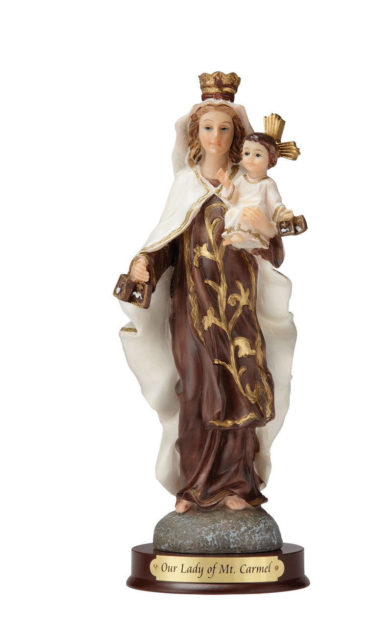 "Our Lady of Mt. Carmel Statue - Color - 8"" or 12"""