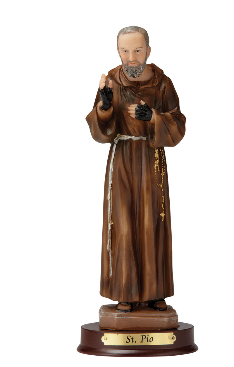 Padre Pio Statue - Color - 8""