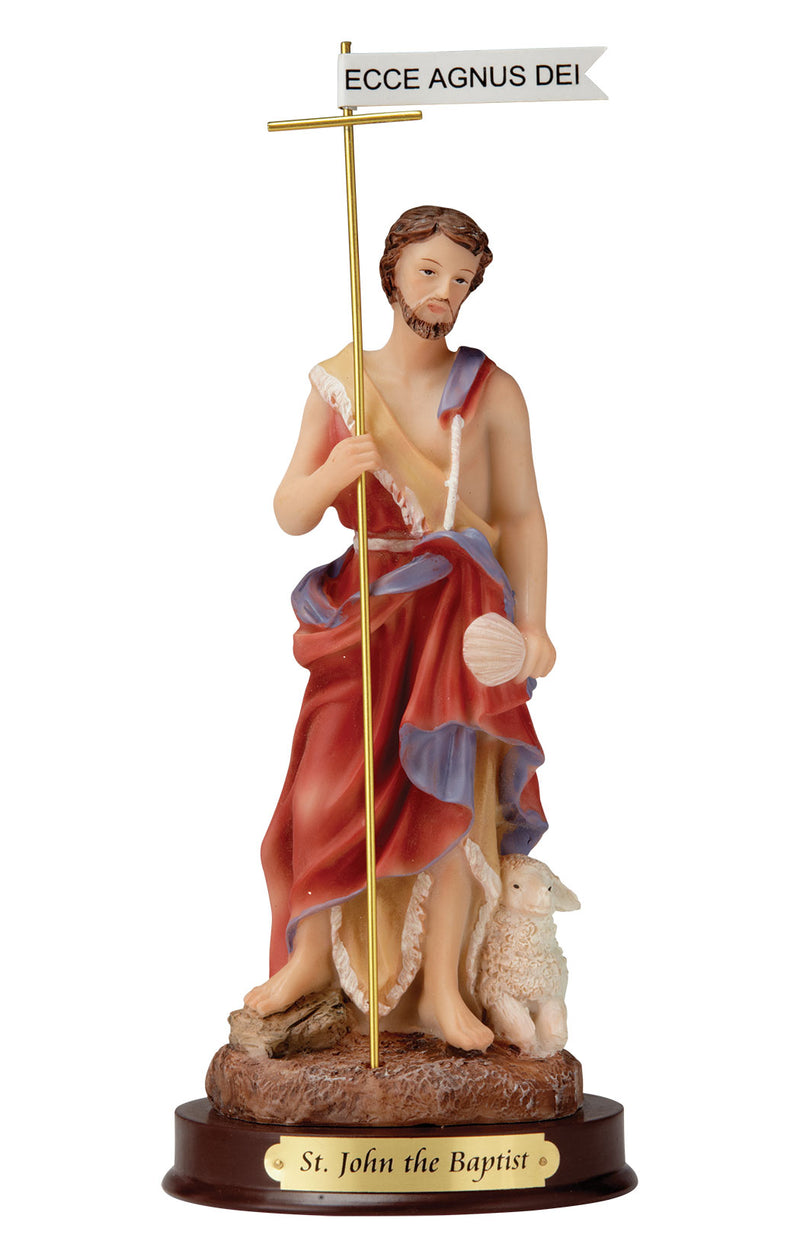 "John the Baptist Statue - Color - 8"" or 12"""