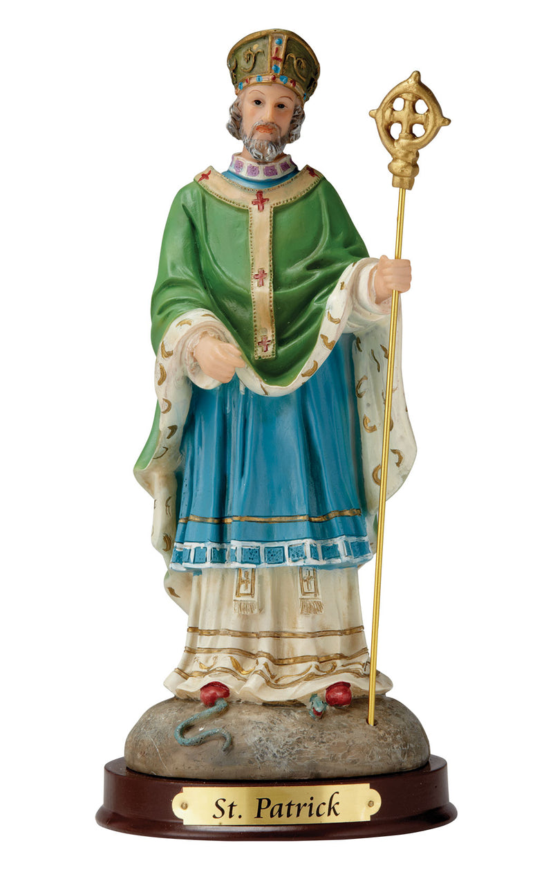 St. Patrick Statue - Color - 8""