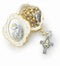 Handcrafted Gold and Silver Metal First Communion Rosary