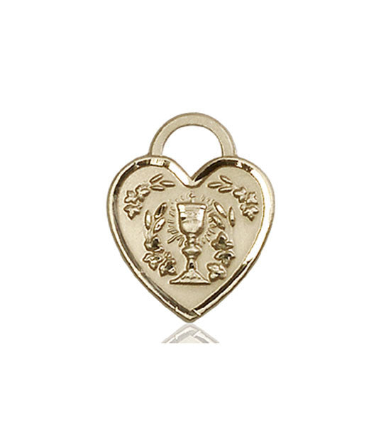 Communion Heart Medal | 14kt Gold
