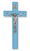 Crucifix w/ Blue Wood Cross