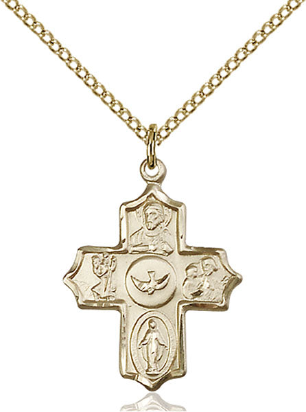 Five-Way Medal - Gold Filled Medal & Chain