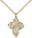 Four-Way Medal - Gold Filled Medal & Chain
