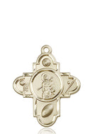 St. Sebastian Sports Five-Way Medal - 14 Karat Gold