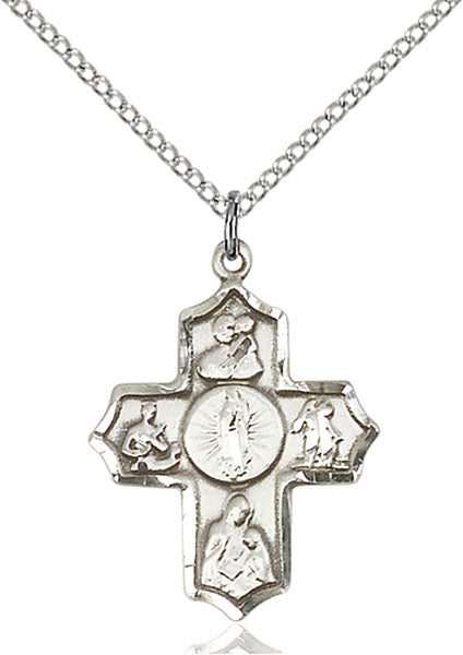 Our Lady of Guadalupe Special Devotion Five-Way Medal - Sterling Silver Medal & Chain