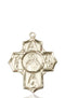 Scapular Special Devotion Five-Way Medal - 14 Karat Gold