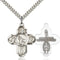 Football Five-Way Medal - Sterling Silver Medal & Rhodium Chain