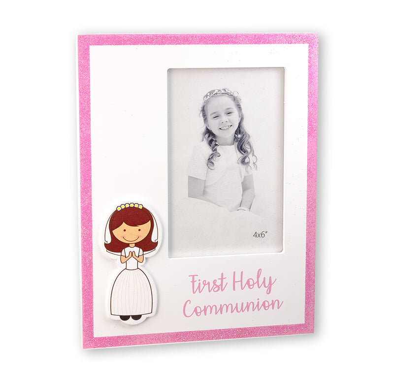 Glitter First Communion Photo Frame