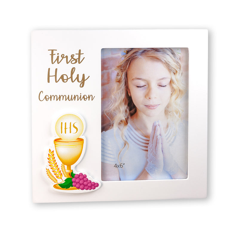 First Holy Communion Photo Frame with Chalice Appliqué