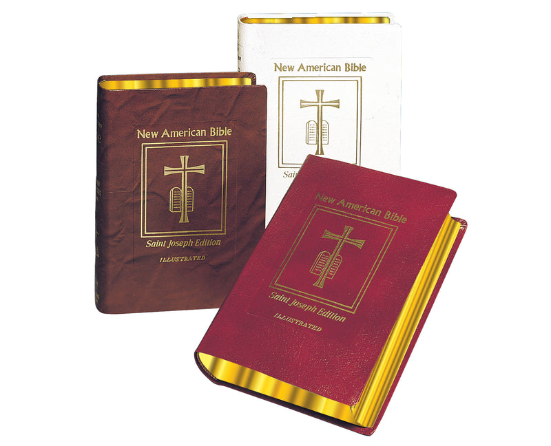 St. Joseph New American Bible Deluxe Bonded Leather Editions (Medium Size)