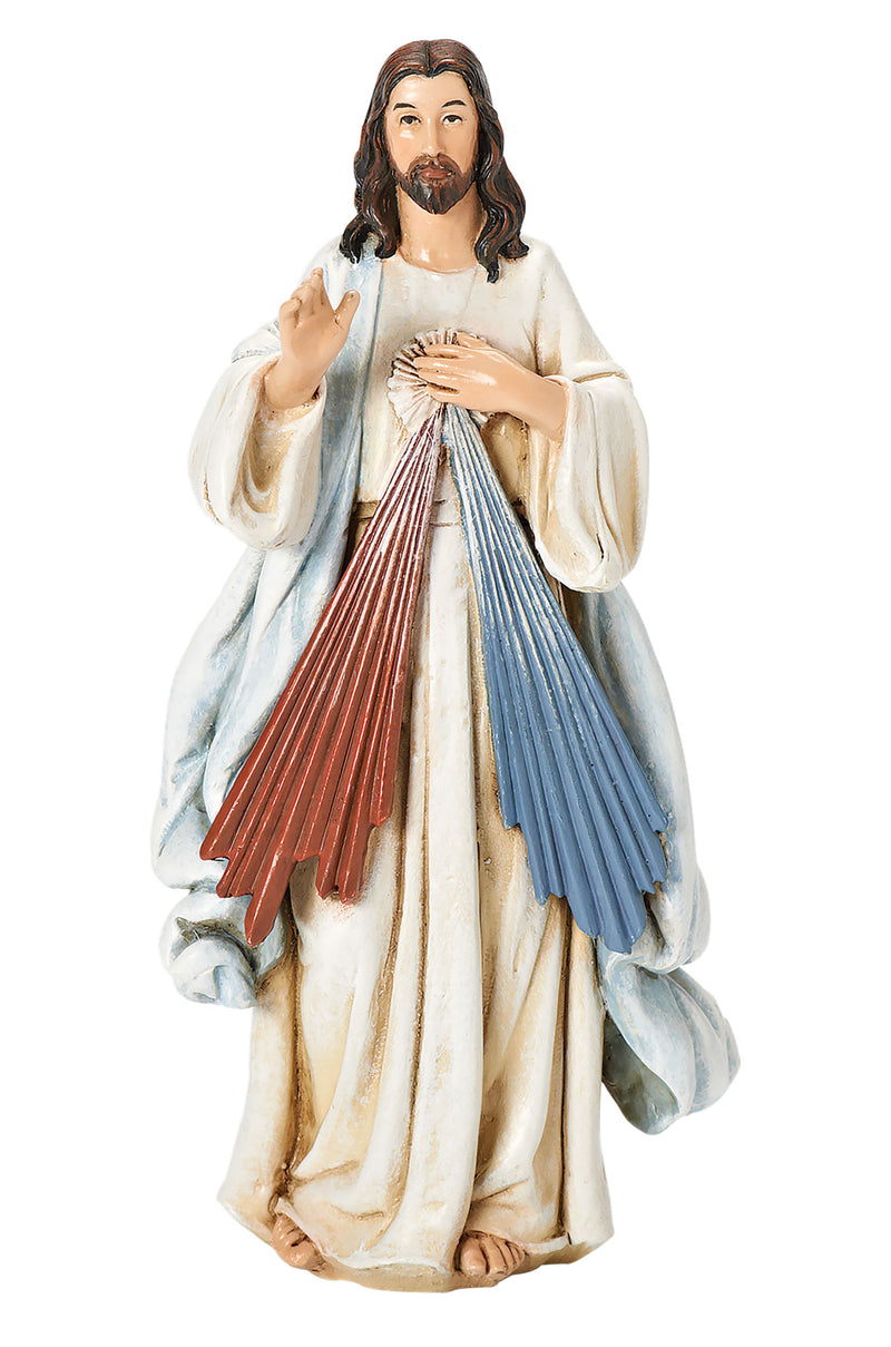 Divine Mercy Statue - Color - 6""