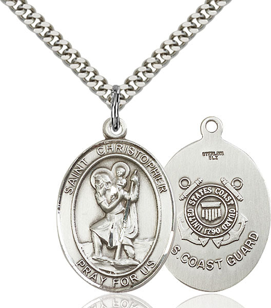 St. Christopher U.S. Coast Guard Sterling Silver Medal