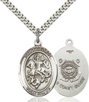 St. George U.S. Coast Guard Sterling Silver Medal