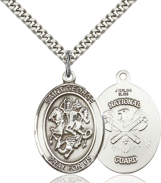 St. George National Guard Sterling Silver Medal