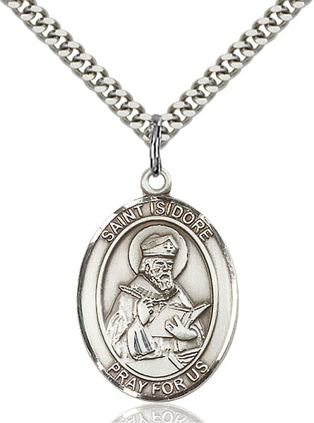 St. Isidore Sterling Silver Medal