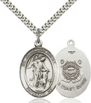 Guardian Angel U.S. Coast Guard Sterling Silver Medal