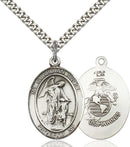 Guardian Angel U.S. Marines Sterling Silver Medal