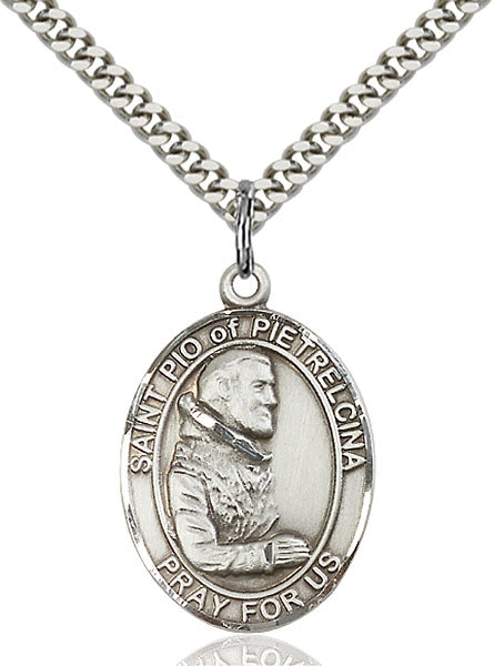St. Pio of Pietrelcina Sterling Silver Medal