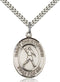St. Christopher Football Sterling Silver Medal