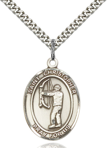 St. Christopher Archery Sterling Silver Medal