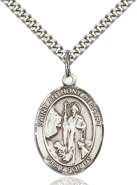 St. Anthony of Egypt Sterling Silver Medal