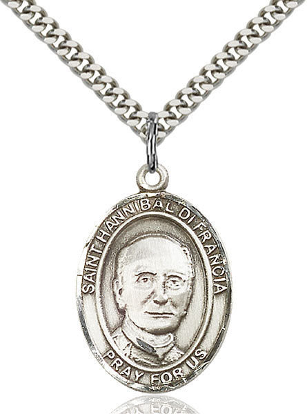 St. Hannibal di Francia Sterling Silver Medal