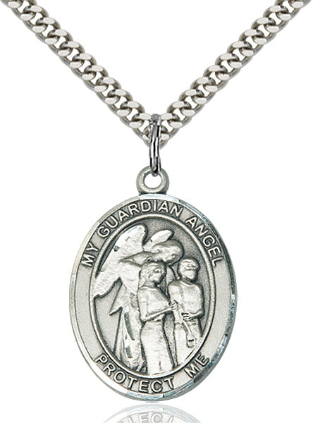 Guardian Angel Sterling Silver Medal