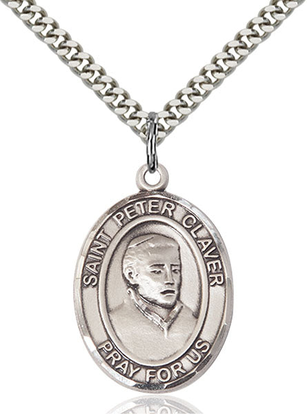 St. Peter Claver Sterling Silver Medal