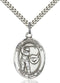 St. Christopher Golf Sterling Silver Medal