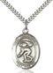 St. Christopher Swimming Sterling Silver Medal