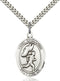 St. Sebastian Track/Cross Country Sterling Silver Medal